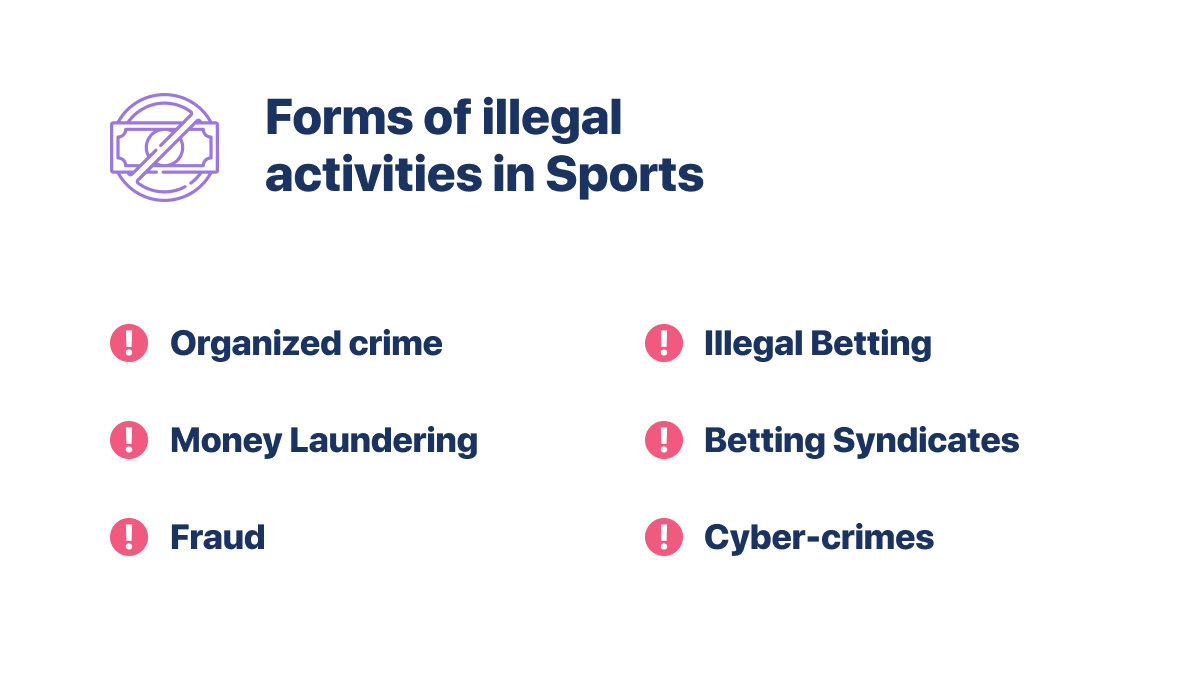 Forms of Illegal Activities in Sports Betting